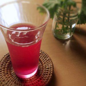 紫蘇ジュースの写真